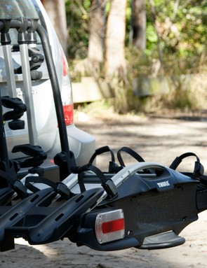 Holding up to four bikes, Thule's new 927 VeloCompact towball mount rack is packed with features