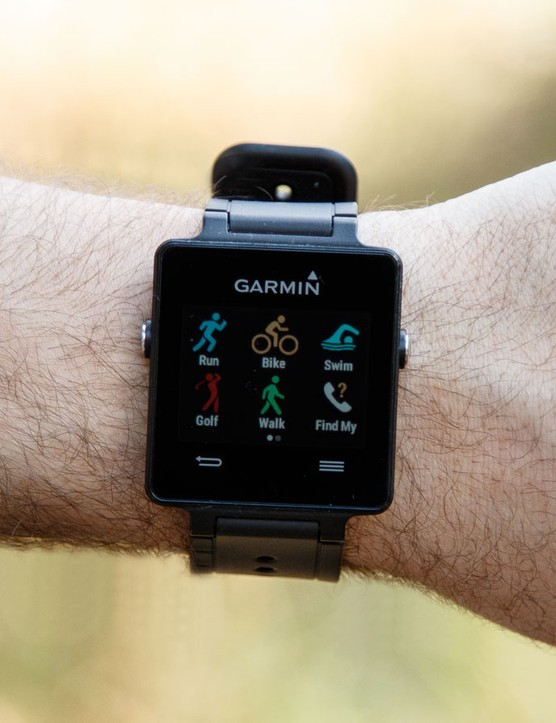 Released at CES earlier in the year, the Garmin VivoActive smart watch offers a number of cycle-friendly features