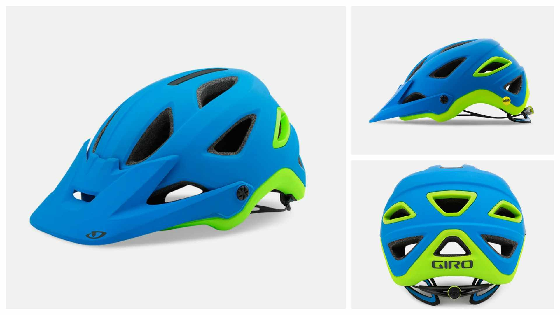 The new Giro Montaro MIPS in matt blue/lime