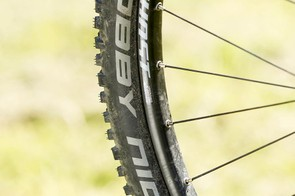 Schwalbe's reworked Nobby Nics roll much better than you'd expect but still give predictable all-conditions grip