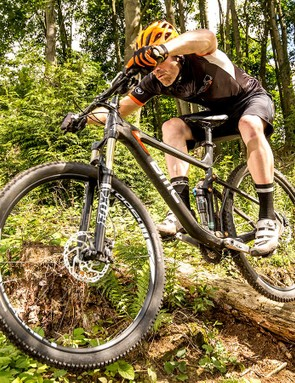 The BMC's carbon mainframe and alloy rear triangle give outstandingly clear and precise feedback