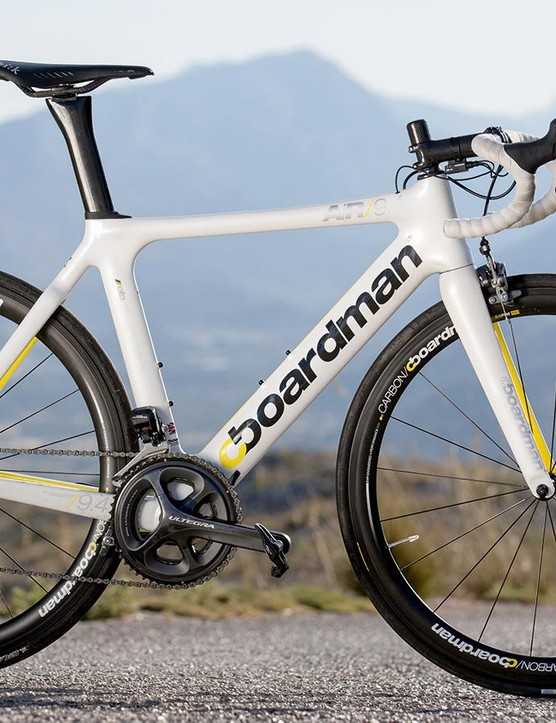 Boardman AiR 9.4 Di2 handled itself well in our TT bike test in Majorca