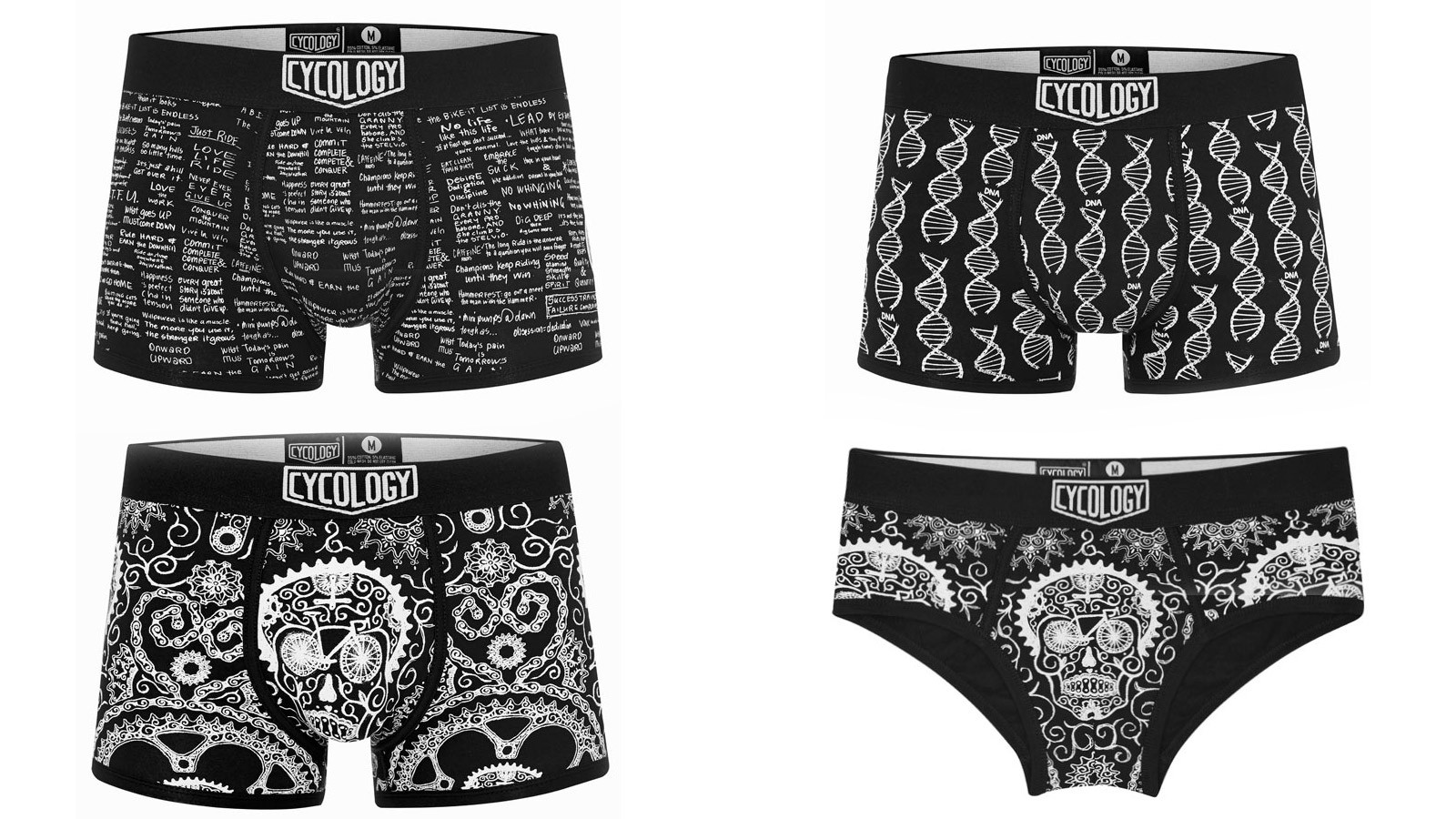 Cycology is now printing its hand drawn designs onto underwear