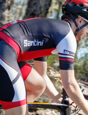 Santini's Interactive 2.0 was designed to be as aero as possible, yet remain two pieces