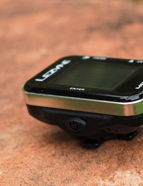 The aluminum ring on the Lezyne Mini GPS lends a high-end look