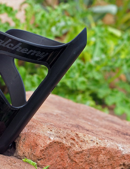 Alchemy Bicycle Company is expanding into carbon components, starting with this slick looking bottle cage