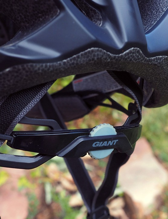 At the back of Giant's Rev helmet is the company's Cinch Pro retention system