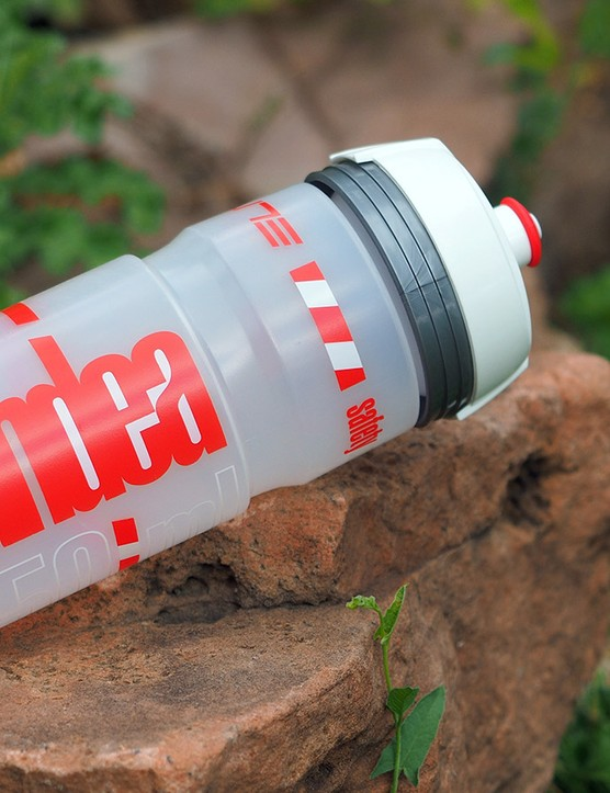Elite proposes a different take on nighttime visibility with its novel Candea water bottle