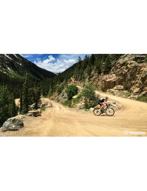 Old Fall River Road is a beautiful dirt climb in Rocky Mountain National Park, Colorado