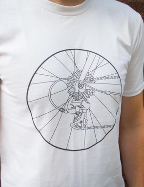 One of the many designs available in the BikeRadar T-shirt store