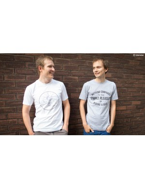This pair of plonkers are enjoying their new T-shirts