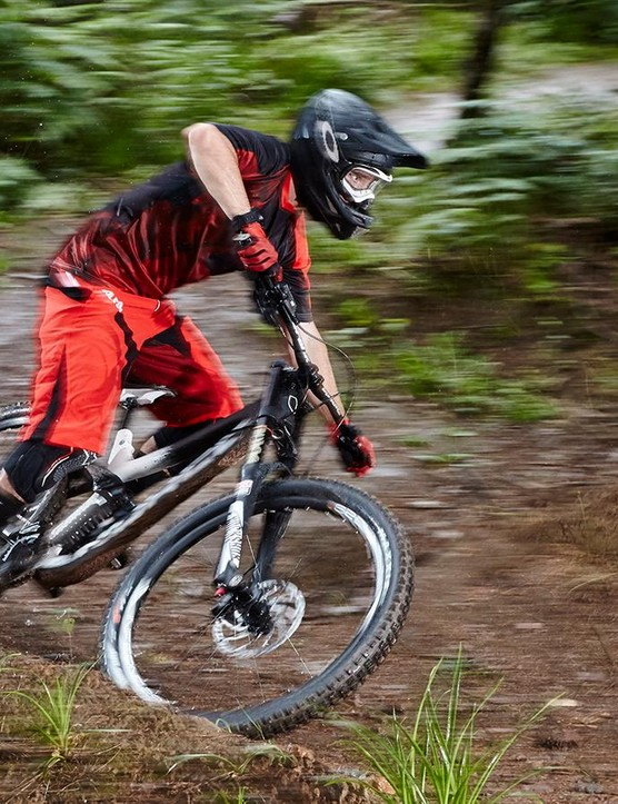 The low-slung Aurum is an easy bike to hop on and ride fast