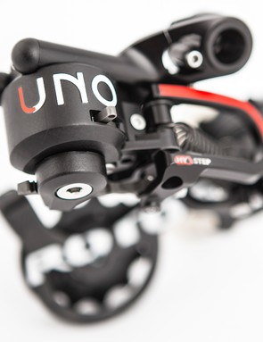 The rear derailleur also has a fairly large chamber