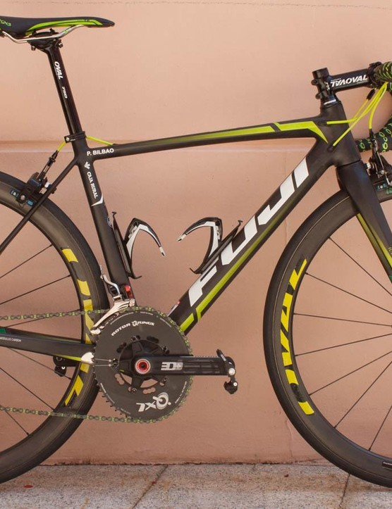 The new Fuji SL. This Team Caja Rural-Seguros RGA build won't be available for sale