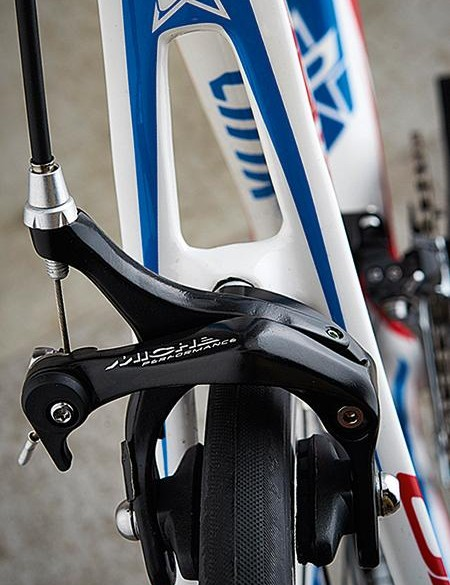 The Miche brakes can easily be improved with cartridge pads