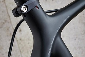 The seatstays blend seamlessly into the top tube