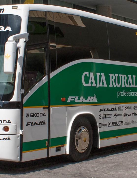 The Caja Rural-Seguros RGA mechanics' bus