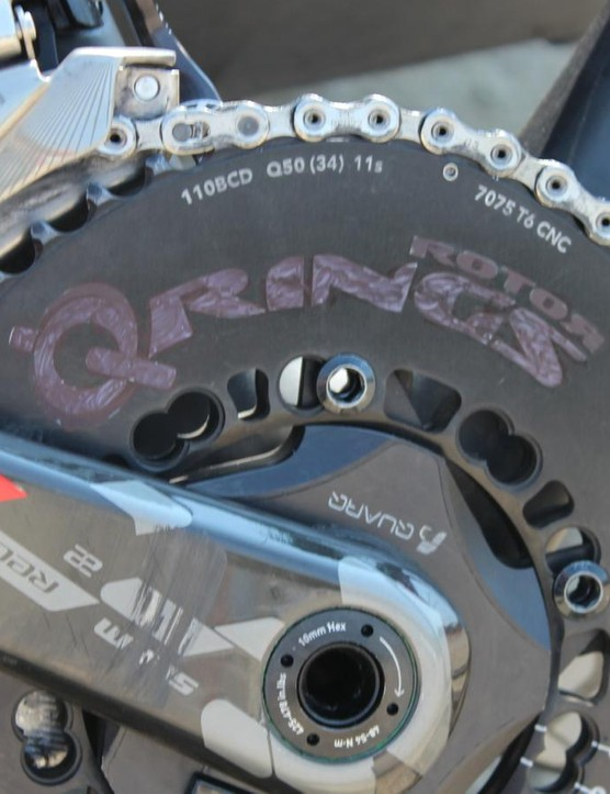 50/34 Rotor Q Rings for Armstrong's road bike
