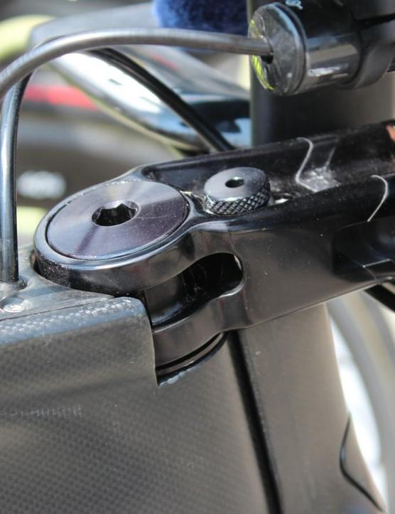 The low-stack design of Cipollini's Nuke TT bike