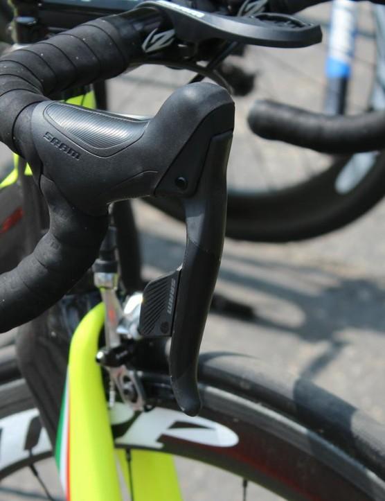 Axeon had a few bikes with SRAM wireless and a few mechanical setups