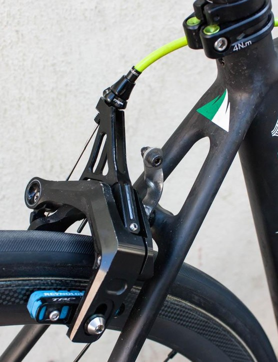 …and it's lighter than the Dura-Ace option. Note the race number bracket