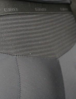 The Chrono Pro bib has a stretch-woven lumbar panel