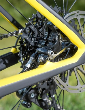 The rear brake mount is now an integral part of the frames structure