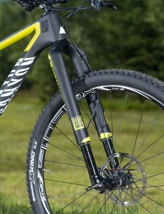 Our test fleet came equipped with the RockShox RS-1 fork