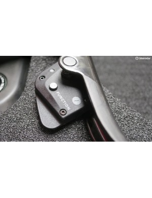 A closer look at the shifter paddle-mounted Function button