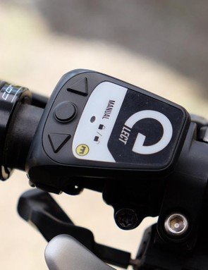 The Vyron uses the same remote as Magura's eLECT forks and shocks. One remote can be programmed to control the seatpost, fork and shock
