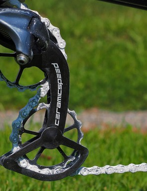 CeramicSpeed claims that its new Oversized Pulley Wheel System will save nearly three watts as compared to a standard Shimano Dura-Ace setup