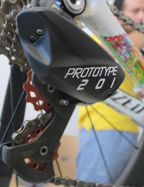 Up close and personal with the new Prototype 201 wireless rear derailleur
