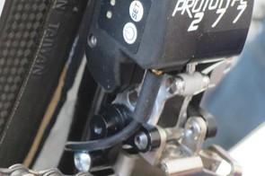 The front derailleur 'Prototype 277' features a bank of four LEDs alongside a power button, set button and check button