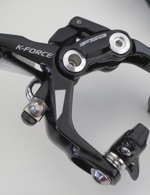 The K-Force dual pivot brake has been redesigned to take wider rims