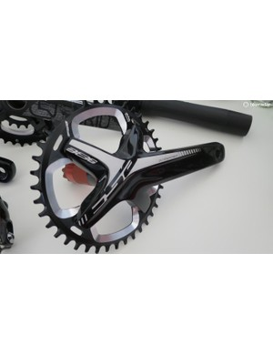 The new alloy Gossamer BB386 crankset looks far classier than the model it replaces, and its available in 1x too