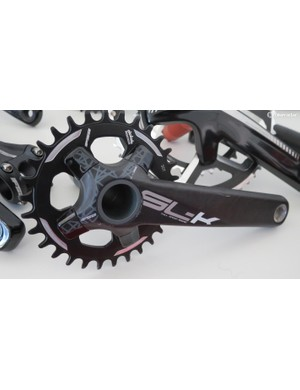 The hollow carbon SL-K BB392 crankset weighs in at just 438g