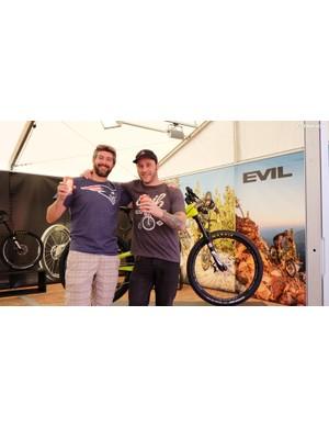 Bromance with suspension designer Dave Weagle and Evil Bikes founder Kevin Walsh