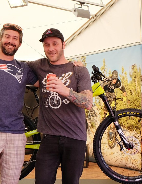 Bromance with suspension designer Dave Weagle and Evil Bikes founder Kevin Walsh