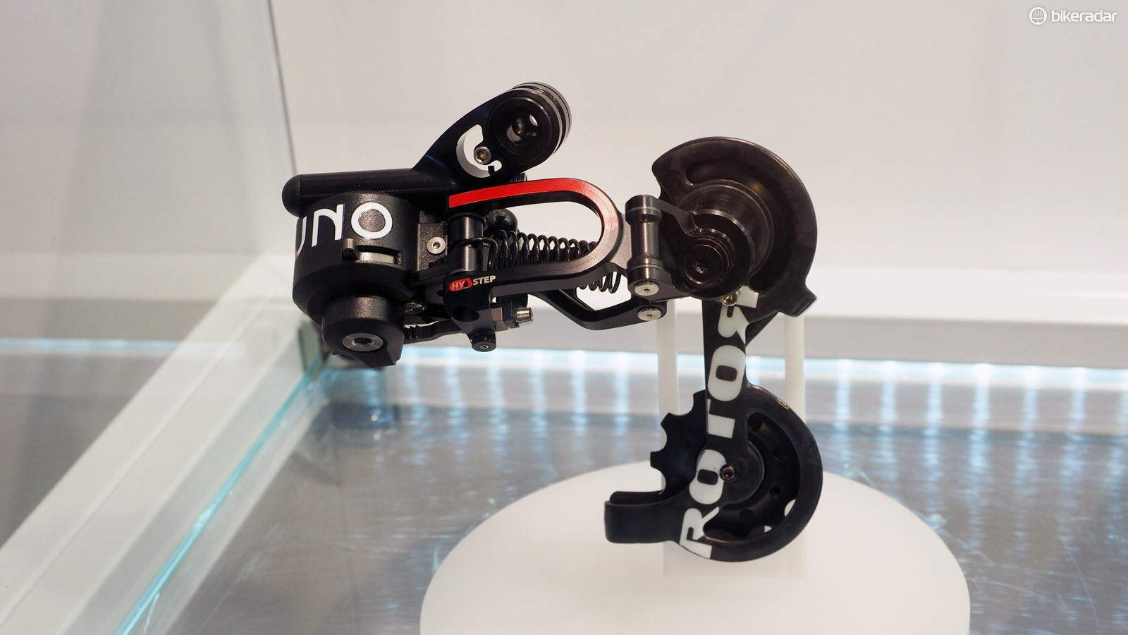 The Rotor Uno rear derailleur certainly doesn't look very much like anything else currently on the market
