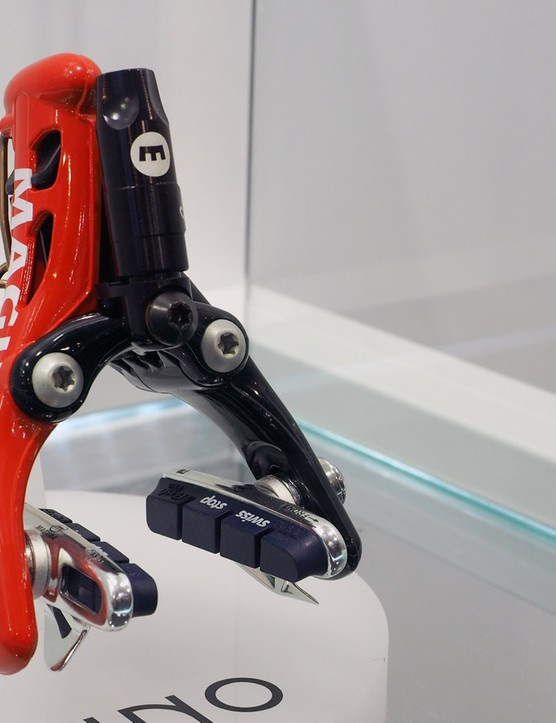 The Magura RT8 rim brake caliper will work with standard mounting holes