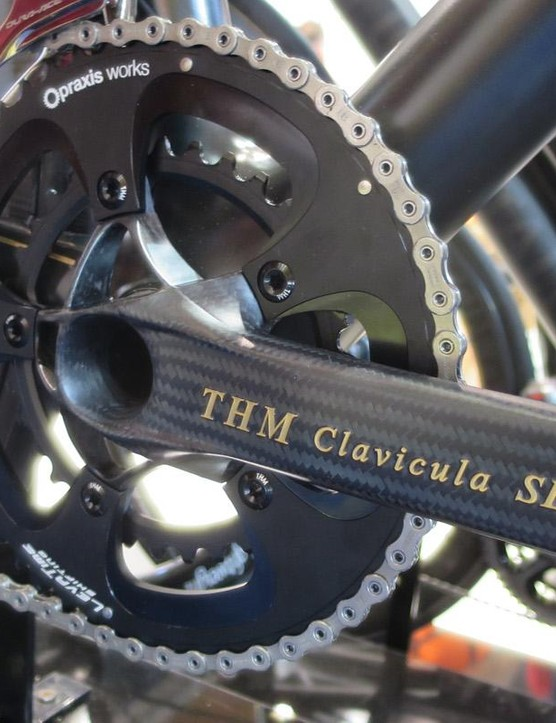The ultra-light THM Clavicula SE crankset even gets the 24 carat treatment