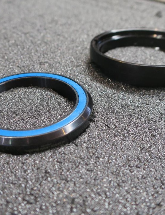 The bearings are angular contact units, as found in Cane Creek's standard headsets
