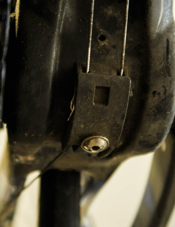 The cable guide beneath the bottom bracket is a common place for gunk to accumulate and shifting friction to begin