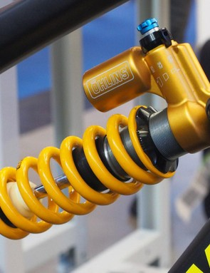 This looks to be a new rear shock from Ohlins - and at the very least, a new size that will greatly expand the range of bikes on which it will fit