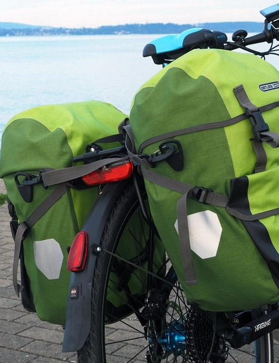 Ortlieb's Bike-Packer Plus panniers held enough gear for two weeks on the road - and their waterproof construction meant that I was prepared in the event of a downpour, too