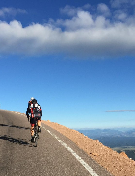 Pikes Peak is one of Colorado's two paved 14ers - mountains that top out over 14,000ft