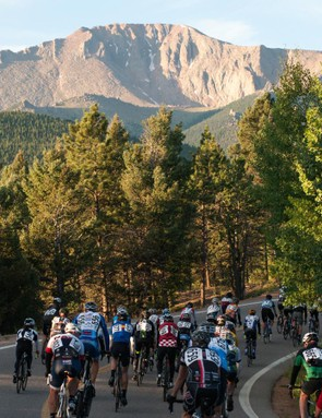 At the start of the Pikes Peak hill climb, the top seems an awfully long way away
