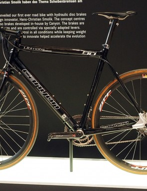 Canyon has been toying with the idea of a disc-equipped road bike for over a decade, showing this concept bike back in 2006