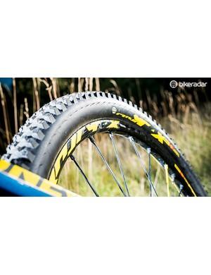 Mavic provides stiff wheels and sturdy rubber
