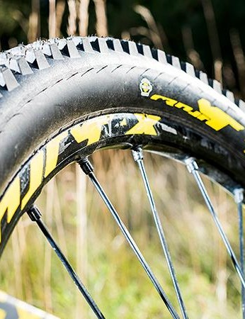 Mavic provides stiff wheels and sturdy rubber